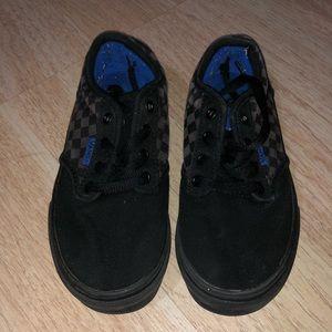 Boy's Vans Shoes black and blue GC